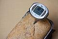 Digital thermometer in vegan bread (5024088168).jpg