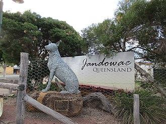Jandowae - Image: Dingo statue, Jandowae, Queensland