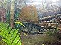 Diorama of a Pennsylanian forest floor - Edaphosaurus (30660307277).jpg