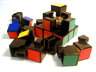 Rubik's Cube - Rubik's Cube partially disassembled