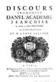 Discours prononcez dans l'Académie françoise le jeudy 30 juin MDCCXXIX, à la réception de M. l'abbé Sallier.png