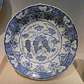 Dish, Turkey, c. 1530, stonepaste painted under glaze - Freer Gallery of Art - DSC05423.JPG