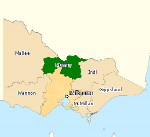 Division of Murray - Division of Murray in Victoria, as of the 2016 federal election.