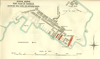Des Voeux Road - Des Voeux Road found on the left side of the map of Hunghom c. 1900
