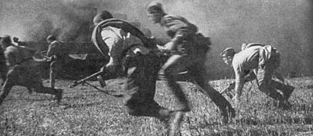 Soviet soldiers attacking on a lodgement in October 1943 Dnieper Forcing Offensive.jpg