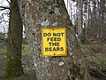 Do not feed the bears - geograph.org.uk - 702711.jpg