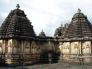 Kadamba dynasty - Kadamba shikara (tower) with Kalasa (pinnacle) on top, Doddagaddavalli