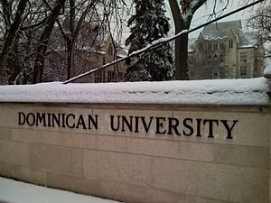 Dominican University (Illinois) - Entrance gate to Dominican University