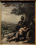 Don Quixote and Sancho Panza Resting beneath a Tree, by Honoré Daumier, 1865 - Ny Carlsberg Glyptotek - Copenhagen - DSC09411.JPG