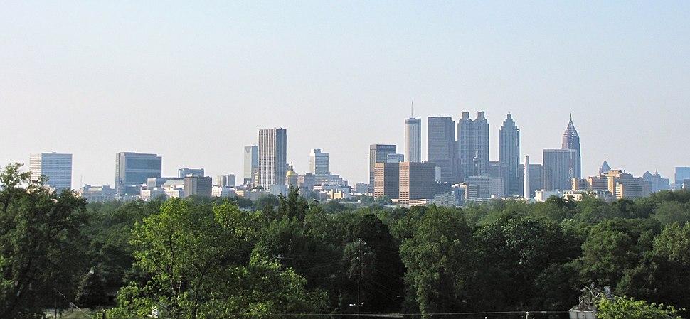 Downtown Atlanta skyline panorama