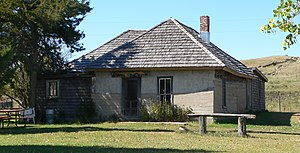 Dowse Sod House - View from the northeast.