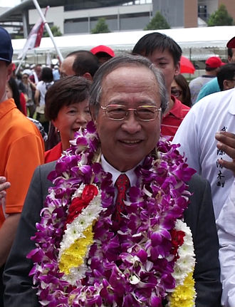 2011 Singaporean presidential election - Image: Dr Tan Cheng Bock at Nomination Centre 1