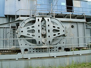 Dragline excavator - The Walking Mechanism on a preserved Bucyrus-Erie 1150 dragline in the UK