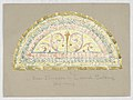Drawing, Design for Stained Glass Window- Over Main Entrance - Lateral Building, Carnegie Hall, New York, NY, late 19th century (CH 18733225).jpg