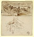 Drawing, Two Studies of Women Watching the Launching of Dories, Cullercoats, England, 1881 (CH 18174017).jpg
