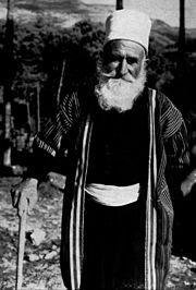 Druze Sheikh (ˤUqqāl) wearing religious dress.