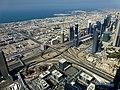 Dubai - View from the Burj Khalifa - Crossing Sheikh Zayed Road - Finacial Centre Road - المنظر من برج خليفة - عبور شارع الشيخ زايد - Finacial شارع المركز - panoramio.jpg