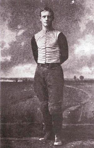 "Dudley Dean - Portrait of Dudley Dean from Walter Camp's 1894 book, ""American Football"""