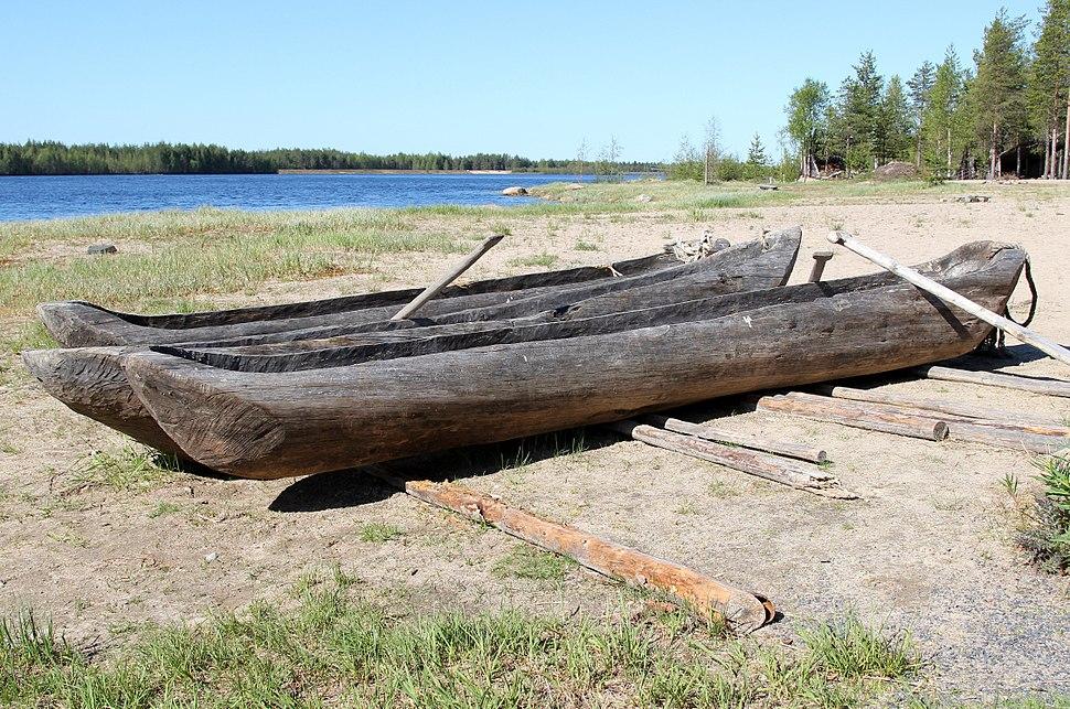 Dugout boats Kierikki Centre Oulu 20130526
