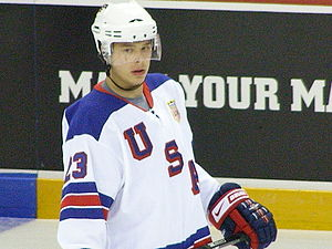 Dustin Brown - Image: Dustin Brown 2008IIHF