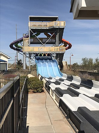 Dry Town Water Park - Dusty's Mine Shaft Racer.
