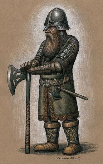 Dwarf (Middle-earth) - An illustration of a Middle-earth dwarf, by a fan artist.