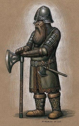 Dwarf (Middle-earth) - An illustration of a Middle-earth dwarf, by a fan artist.