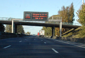 Autoroutes of France - Dynamic information panel used on the French Autoroute.