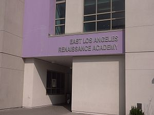 East Los Angeles Renaissance Academy - ELARA main entrance in 2013