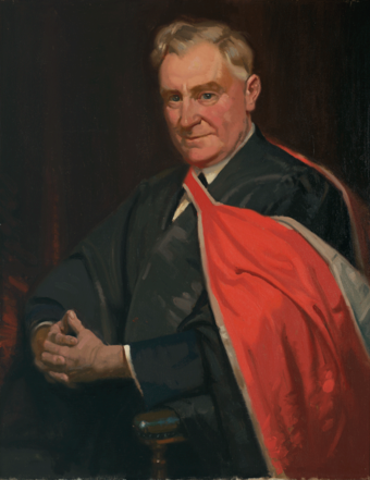 Parliament House portrait of Page by Fred Leist, 1940-41 Earle Page, 1940-1941 (Fred Leist).png