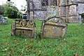 Early 18th century headstones, Corscombe Churchyard.jpg