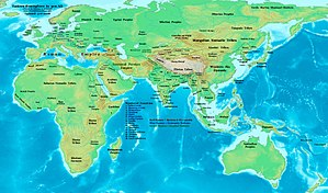 Eastern Hemisphere at the beginning of the 4th century AD.