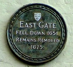Photo of East Gate, Colchester green plaque