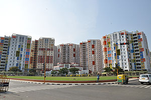 New Town, Kolkata - Apartment high-rises in New Town