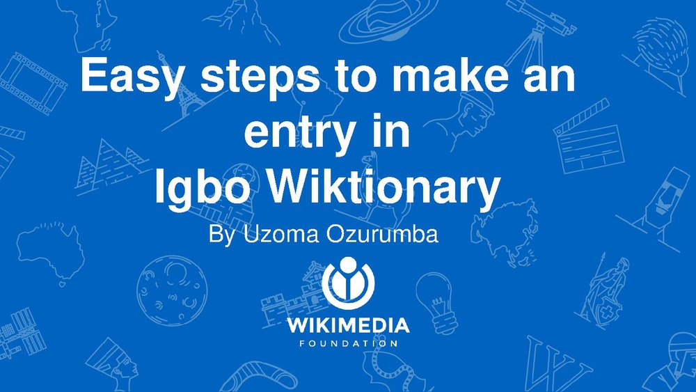 Easy steps to edit Igbo Wiktionary