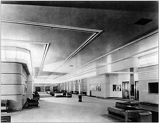 The Carlu - The Grand Foyer at the Eaton's Seventh Floor in 1931. The floor was designed by French architect Jacques Carlu.