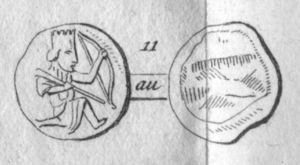 Achaemenid coinage - Dareikos - from an Italian translation of: Eckhel