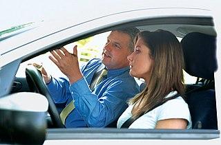Professional teacher of driving skills