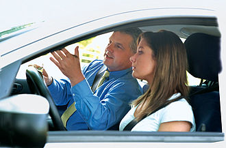 Driving instructor - Driving instructor and student