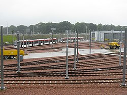 Edinburgh Tram Depot and the A8 (geograph 3029830).jpg