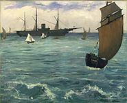 """Edouard Manet - Le """"Kearsarge"""" à Boulogne"""