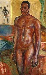 Standing Naked African