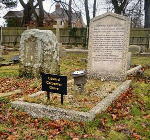 Mount Cemetery - Image: Edward Carpenter Grave 2015