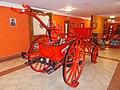 Eger Fire Station, Uraj historical fire engine, 2016 Hungary.jpg