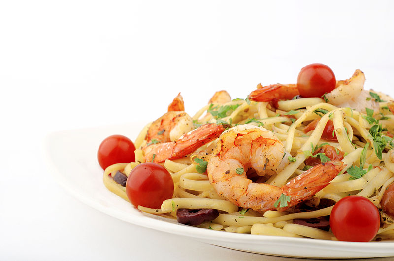 800px Egyptian food Pasta with Shrimp - Stop the Hanger- Snacks to Avoid an Eating Emergency