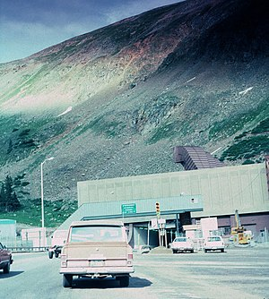 Eisenhower Tunnel - West Portal in summer 1978
