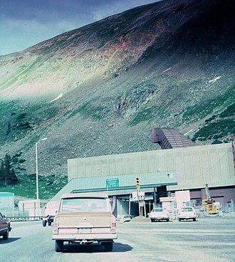 Eisenhower Tunnel - West Portal in summer 1978