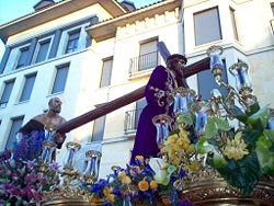 El Nazareno, durante la Procesión de los Pasos