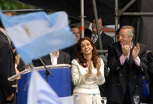 Elecciones en Argentina - Cristina y Néstor Kirchner 26102007