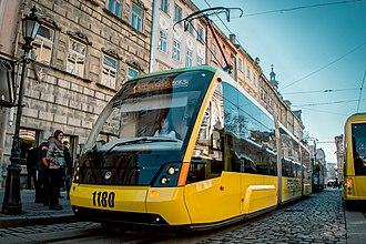 Trams in Europe - Electron T3L44 in Lviv, Ukraine